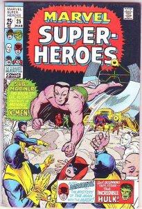 Marvel Super-Heroes #25 (Mar-70) NM/NM- High-Grade Daredevil, X-Men, Hulk