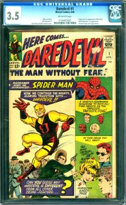 Daredevil #1 CGC Graded 3.5 Origin and 1st appearnce of Daredevil  (Matt Murd...