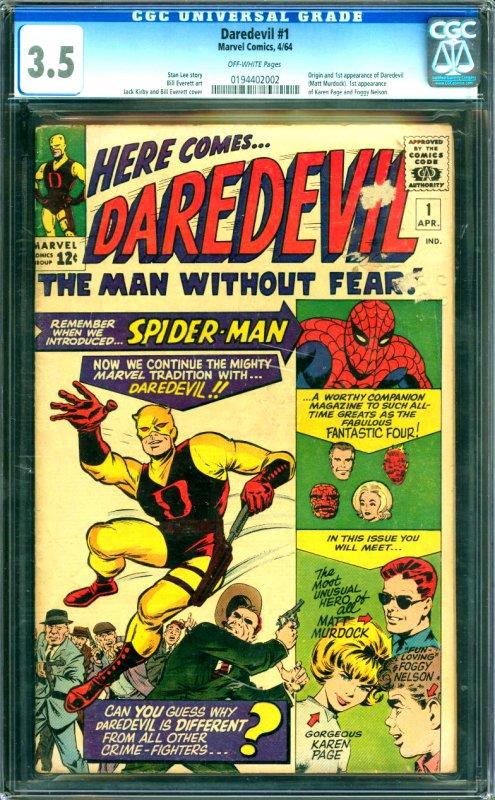 Daredevil #1 CGC Graded 3.5 Origin and 1st appearnce of Daredevil  (Matt Murd...
