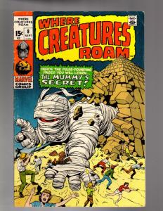 WHERE CREATURES ROAM 8 VERY GOOD  Sept. 1971