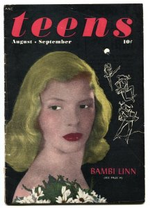 Keen Teens #6 1946 ME-Bambi Linn-Interracial kiss-RARE comic book
