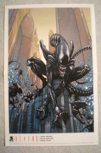 ALIENS & PREDATOR Promo Poster, 11x17, 2009, Unused, Aliens on 1 w/ predator on