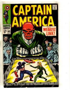 Captain America # 103 FN Marvel Comic Book Red Skull Jack Kirby Stan Lee FM3