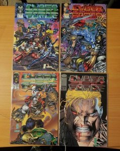 Cyber Force 1-4 Complete Set Run! ~ NEAR MINT NM ~ 1992 Image Comics