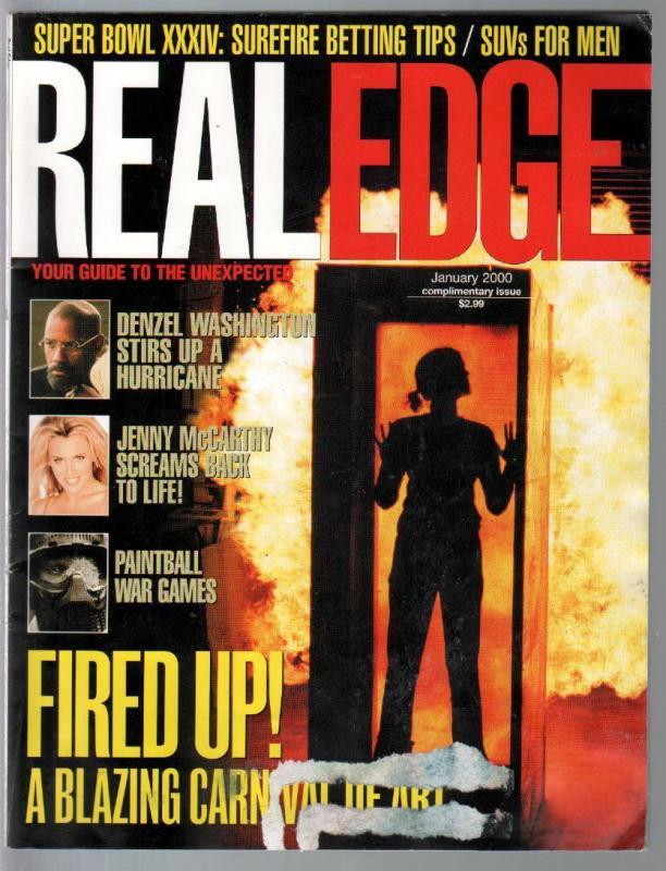 Real Edge 1/2000-1st issue-Denzel Wahington-Gwen Stefani-Super Bowl-G