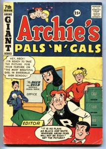 Archie's Pals 'n' Gals #7 1959-Archie-Betty & Veronica cover-VG
