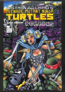 Teenage Mutant Ninja Turtles #8 VF+ 8.5 Cerebus appearance!