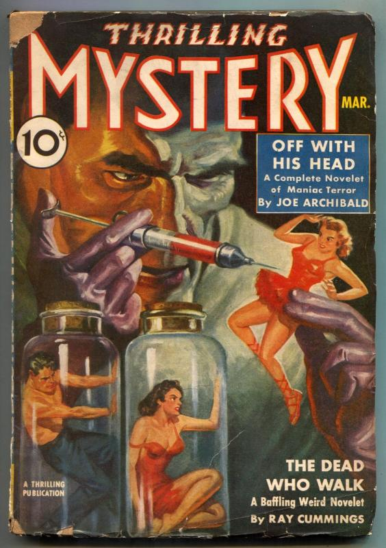 Thrilling Mystery Pulp March 1940- Hypodermic GGA cover