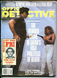 Official Detective 10/1985- spicy gun moll-crime pulp thrills-nympho-VG