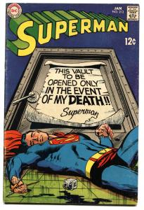SUPERMAN #213 1969- DC Silver Age- comic book FN