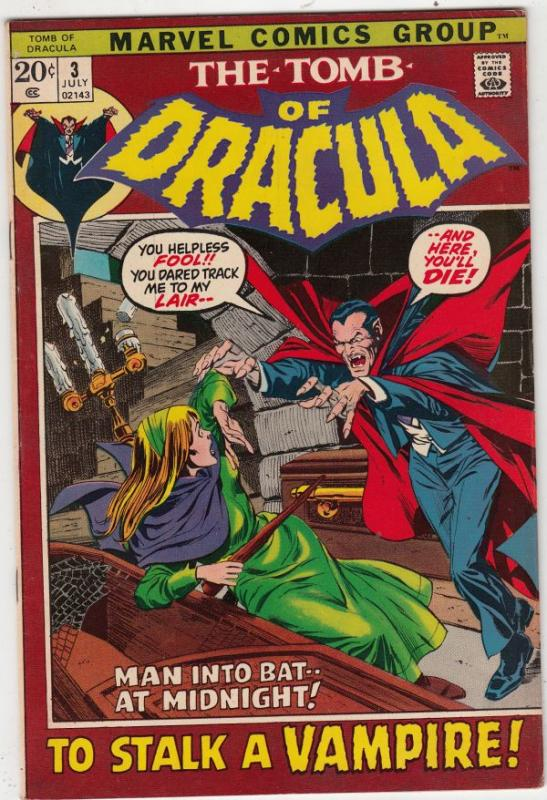 Tomb of Dracula #3 (Jul-72) VF/NM- High-Grade Dracula