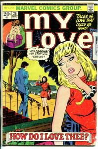 My Love #26 1973-Marvel-romance stories-Jack Kirby-love triangle-G-