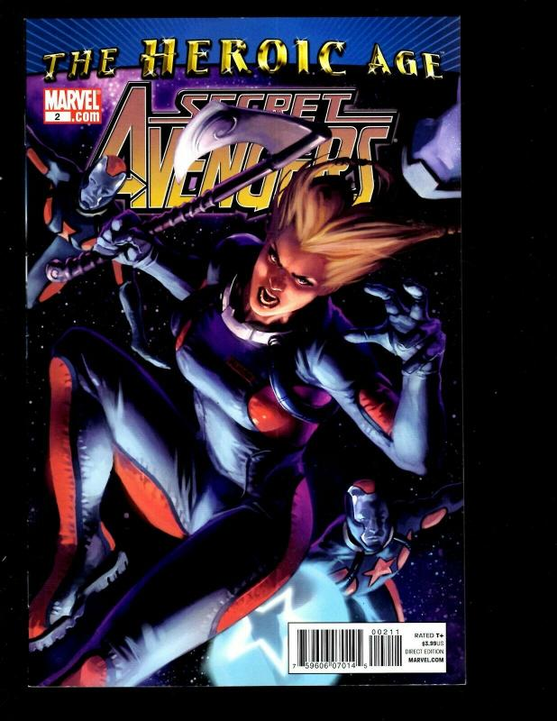 Lot of 8 Secret Avengers Marvel Comic Books 1 2 3 4 6 7 8 9 Captain America SM11