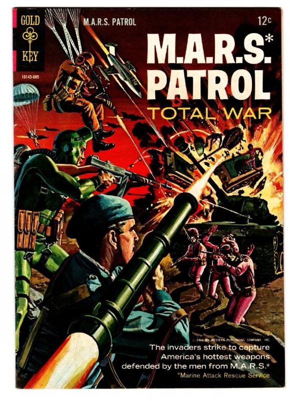M.A.R.S. Patrol Total War #3 comic book First issue WALLY WOOD ART