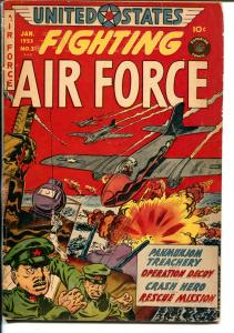 United States Fighting Air Force #3 1953-Superior-violent Korean War stories-VG-