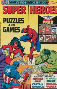 Super Heroes Puzzles and Games #1 VG; Marvel   low grade comic - save on shippin