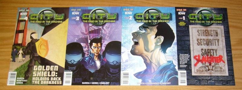 City: the Mind in the Machine #1-4 VF/NM complete series - subscription variants