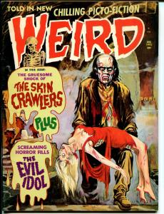 Weird Vol. 6 #7 1972-Eerie Pubs-violent horror-bloody ghoul cover-FN/VF
