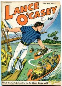 LANCE O'CASEY #3 1946-FAWCETT COMICS-NATIVES ATTACK CVR FN