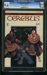 CEREBUS THE AARDVARK #27-CGC GRADED 9.6-DAVE SIM  1060695011