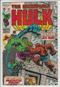 Incredible Hulk #122 (Dec-69) FN+ Mid-High-Grade Hulk
