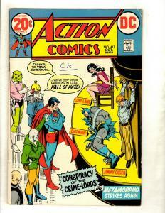 Lot Of 6 Action Comics Feat. Superman # 417 418 421 423 427 440 Batman Flash GK5