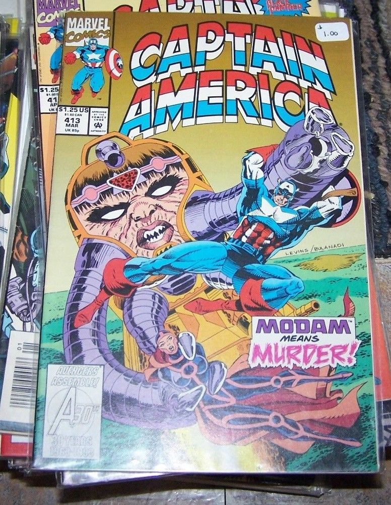 Captain America Comic 413 Mar 1993 Marvel Modam Avengers Shang