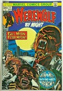 WEREWOLF BY NIGHT#11 VF 1973 MARVEL BRONZE AGE COMICS