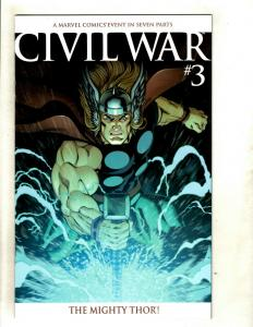 Civil War # 3 NM 1st Print Variant Cover Marvel Comic Book Thor Avengers  SM8