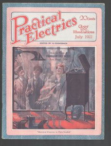 Practical Electrics #8 7/1922-Experimenter-Hugo Gernsback-H.A. Weiss cover ar...
