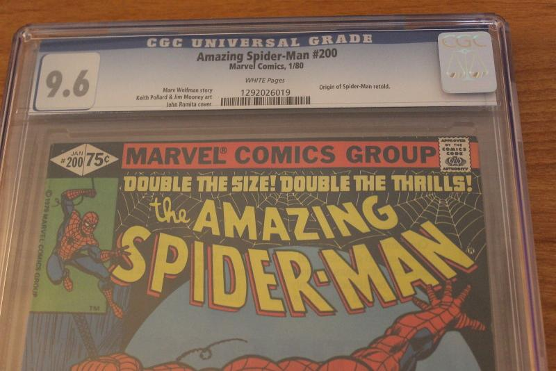 The Amazing Spider-Man #200 (Marvel, 1980) CGC NM+ 9.6 White pages