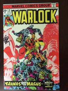 WARLOCK #10 VF+! WAR OF THANOS AND MAGUS! HI GRADE!  LOW PRINT RUN