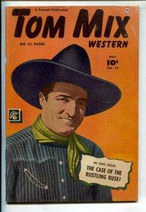 Tom Mix Western #29 1950-Fawcett-Photo cover -Carl Pfeufer story art-VG