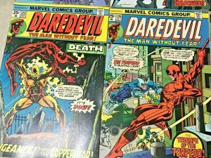 DAREDEVIL#122-169 VG-VF LOT 1975 (6 BOOKS) MARVEL BRONZE AGE COMICS