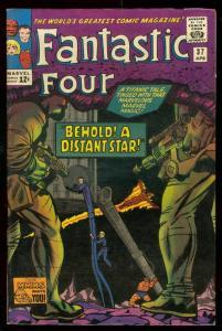 FANTASTIC FOUR #37 1965-MARVEL COMICS-DISTANT STAR FN/VF