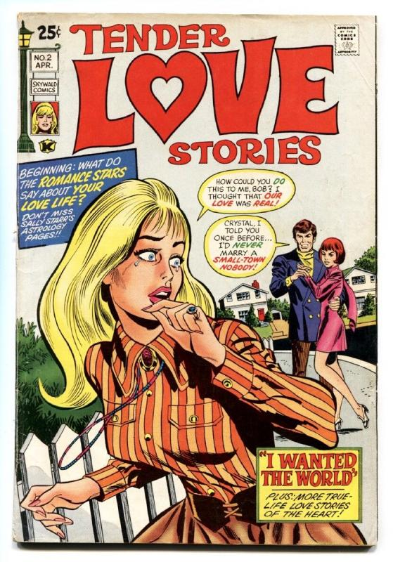 Tender Love Stories #2 1971 Skywald-Lingerie Panels-Romance cvr