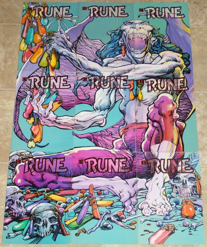 Rune #A-K VF/NM complete set - malibu ultraverse - barry windsor-smith set lot