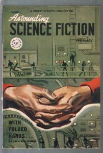 Astounding Science Fiction British Edition 2/1948-sci-fi pulp fiction-Asimov-FN