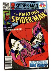 AMAZING SPIDER-MAN #223 comic book 1981-MARVEL-RED GHOST
