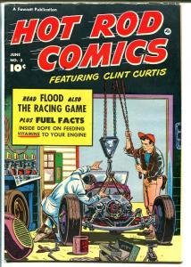 Hot Rod-#3 1952-Fawcett-John Cobb-dirt track sprint cars-Bettenhausen-FN MINUS