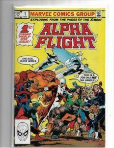 ALPHA FLIGHT#1 - F/VF to VF- 1983 JOHN BYRNE MARVEL COMICS - COPPER AGE KEY