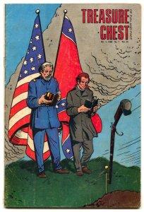 Treasure Chest Comics Vol 24 #7 1968- Civil War cover VG
