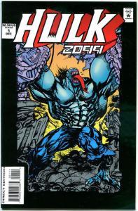 HULK 2099 #1, NM+, 1994, Chris Ivy, Green Foil, more Marvel & Hulk in store