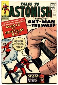 TALES TO ASTONISH #47 1963-ANT MAN-WASP-DITKO-HECK-FOX-FN