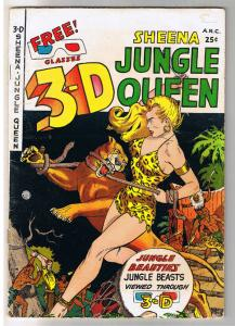 SHEENA QUEEN of the JUNGLE 3-D #1, VG, 1953, Golden Age, Pre-code, more in store