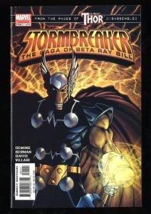 Stormbreaker #1 NM- 9.2 1st Alpha Ray!