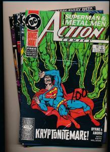 LOT of 4 ~ DC Action Comics #599 / 600 / 605 / 610 (SRU136)