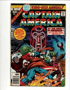 Captain America Annual # 4 VF Marvel Comic Book Falcon Jack Kirby Avengers J371