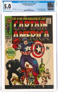 Captain America #100 (Marvel, 1968) CGC Graded 5.0