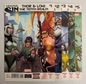 Original Sin Thor & Loki The Tenth Realm #1-5 Marvel 2014 Jason Aaron (9.2+)